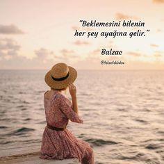 """✔""""Gözləməsini bilənin hər şey ayağına gəlir"""". #Balzac"""