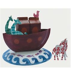 Noah's Ark from recyclables - the link no longer works, however it looks like the ark is made from painted paper plates and painted milk cartons. @Anna Totten Martin
