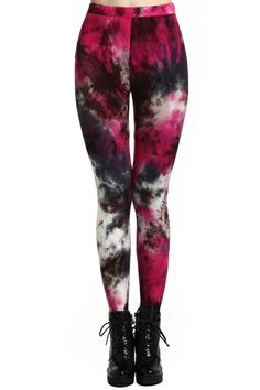 Multi-colored Bandhnu Print Leggings. Description Leggings, crafted from soft-touch fabric, featuring multi-colored bandhnu print design, a stretchy waist, and all in a soft-touch stretch fit. Fabric Cotton,Spandex. Washing Cool Hand Wash. #Romwe