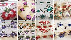 2019 Havlu Kenarı Örnekleri En Güzel Sevilen Modeller Thread Painting, Peta, Floral Tie, Needlework, Free Pattern, Diy And Crafts, Lily, Youtube, Tans