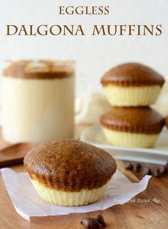 Eggless Cookie Recipes, Eggless Desserts, Eggless Baking, Cupcake Recipes, Baking Recipes, Snack Recipes, Eggless Muffins, Eggless Vanilla Cupcakes, Coffee Muffins