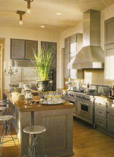 Cool grey kitchen