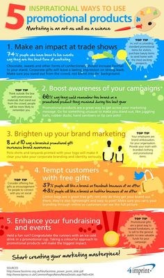 5 Inspirational Ways to Use Promotional Products - a great new Infographic from on the art of promotional marketing Event Marketing, Business Marketing, Marketing And Advertising, Internet Marketing, Online Marketing, Digital Marketing, Marketing Ideas, Product Advertising, Business Sales