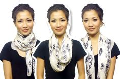 25 ways to wear a scarf in a 5 minutes!