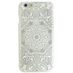 Clear White Mandala iPhone 6 Case
