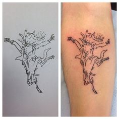 Fantastic mr fox was one of my favourite books as a kid so tattooing Quentin…