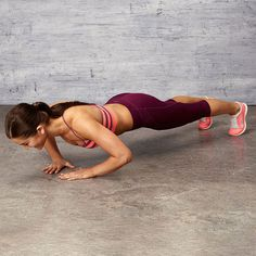 Mastered the push-up? Work your shoulders, chest, triceps and core with this amped-up triangle version.