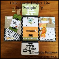 Happy Mail booklet made with Hello Lovely Project Life card collection and accessory pack by Stampin' Up! Top 10 Winner Project Highlight blog hop - Danielle Bennenk