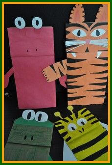 Animal Crafts for Kids - Paper Bag Puppets from all over the Animal Kingdom!