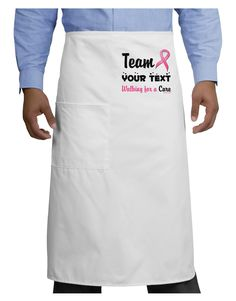TooLoud Personalized Team -Name- Breast Cancer Walk - Walking for a Cure Adult Bistro Apron