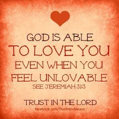 Isn't God's love great? Thank you Lord Jesus for loving me.