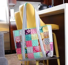 Patchwork Crafty Traveler Tote Kit - #quiltkit #fabric