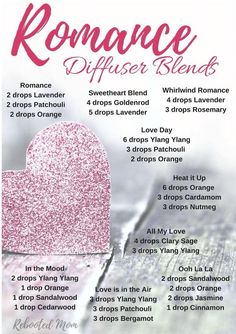 Romance Diffuser Blends Young Living Essential Oils Valentines Day Member Number #3309848