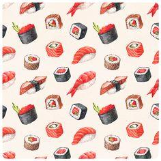 https://www.behance.net/gallery/24280647/Watercolor-illustrations-of-sushi
