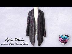 "Concours !!! Cardigan Gilet ""Baba"" Crochet ""Lidia Crochet Tricot"" Facile Débutante - YouTube Lidia Crochet Tricot, Gilet Crochet, Kinds Of Fabric, Sweater Cardigan, Fur Coat, Sweaters, Yoga, Youtube, Fashion"