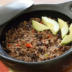 Congri Rice (Cuban Rice & Black Beans) Recipe - one of my faves!