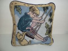 Winnie The Pooh Christopher Robin Tapestry Square Pillow | eBay