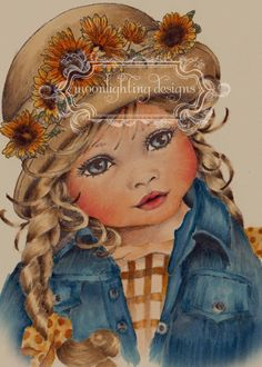 My first Sugar Nellie digi stamp--Victoria.