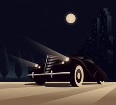 Art Deco Style Car