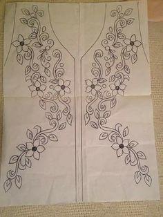 Výsledok vyhľadávania obrázkov pre dopyt neck line art work Hand Embroidery Stitches, Free Machine Embroidery Designs, Ribbon Embroidery, Floral Embroidery, Cross Stitch Embroidery, Tambour Beading, Motifs Perler, Crochet Patron, Mexican Embroidery
