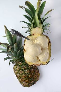 Healthy Pineapple Banana Icecream - Veganes Bananen Ananas Eis