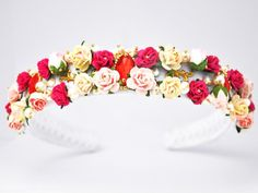 Hairbands – Floral White Miss D&G Baroque Headband Swarovski R – a unique product by Elvie_gl on DaWanda