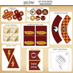 Kit Festa para imprimir Harry Potter