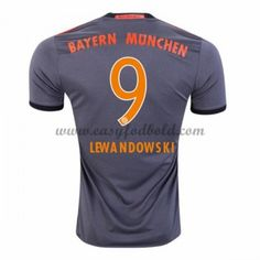 Fodboldtrøjer Bundesliga Bayern Munich 2016-17 Lewandowski 9 Udebanetrøje