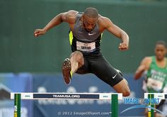 Angelo Taylor wins hurdle heat in during the 2012 U. Olympic Team Trials at Hayward Field. 400m, Olympic Team, Hurdles, Trials, Olympics, Sports, Hs Sports, Sport