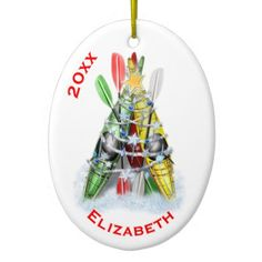 #The Kayak Christmas Tree Ceramic Ornament - #Xmas #ChristmasEve Christmas Eve #Christmas #merry #xmas #family #kids #gifts #holidays #Santa