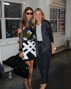 Olivia Palermo at NYFW Tibi with Amy Smilovic http://www.oliviapalermo.com/snapped-tibi-at-new-york-fashion-week/
