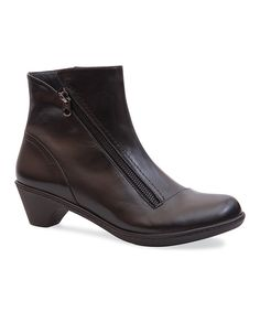 Loving this Black Billie Burnished Leather Ankle Boot on #zulily! #zulilyfinds