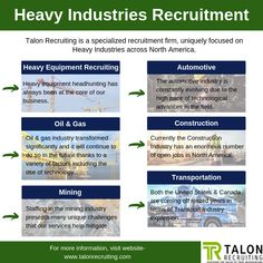 Get heavy industrial jobs with the best employment agency in North America.