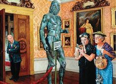 Art Museum ~ Susan Brabeau. Hahahaha... Lovely larger than life women, forever made their mark!