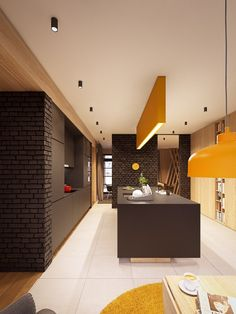 Home Designing — (via A Seductive Home with Lush Colours- Kitchen)