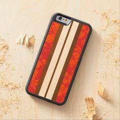 Sunset Beach Surfboard Hawaiian Carved® Maple iPhone 6 Bumper Case