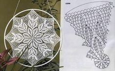 Użyj STRZAŁEK na KLAWIATURZE do przełączania zdjeć Crochet Dreamcatcher Pattern Free, Crochet Snowflake Pattern, Doily Dream Catchers, Dream Catcher Craft, Crochet Chart, Crochet Motif, Crochet Christmas Stocking Pattern, Dream Catcher Patterns, Patron Crochet