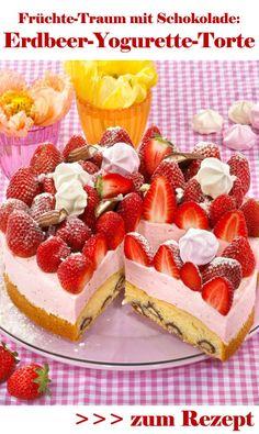 Frische Erdbeeren + schokoladige Yogurette = ein Torten-Traum!