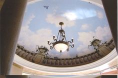 Trompe l'oeil Ceiling Murals...Painted Ceiling Murals by Art Effects