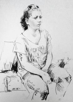 Техника исполнения: бумага, графитный (простой) карандаш. Размер: 30/40 см. 2012 г. Заказать портрет с натуры или по фото, Санкт-Петербург.