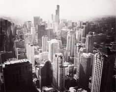 Chicago photo black and white landscape skyline by JourneysEye, $28.00