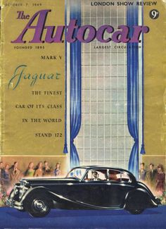 Autocar Magazine Cover October 7th 1949 Jaguar Mk V  Mark 5