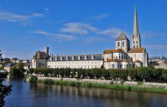 Romanesque Abbey Church of Saint-Savin sur Gartempe. Vienne, France