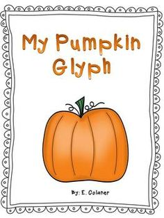 Here's a simple pumpkin glyph for young students.