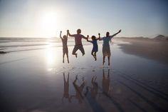 happy family beach