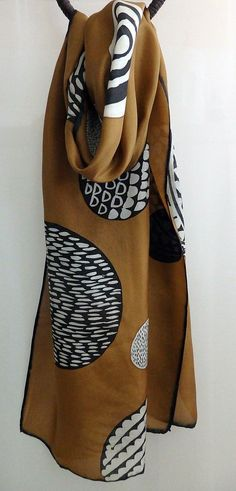 Hand painted silk scarf by SonsolesGuinea on Etsy More