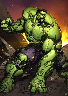 #Hulk #Fan #Art. (Hulk Avenger Color 5) By: Álvaro Jiménez. ÅWESOMENESS!!!™ ÅÅÅ+