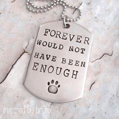Hand stamped necklace, dog tag