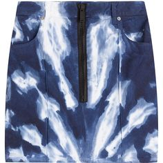 Dsquared2 Tie-Dye Skirt (€175) ❤ liked on Polyvore featuring skirts, blue, blue tie dye skirt, tie dye skirts, tie dyed skirts, dsquared2 and tie-dye skirt