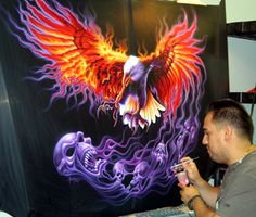 CT Custom Airbrush & Paint, Airbrushing, Motorcycle Art, Motorcycles, designs, helmets, wall murals, skulls, bikes & vehicles
